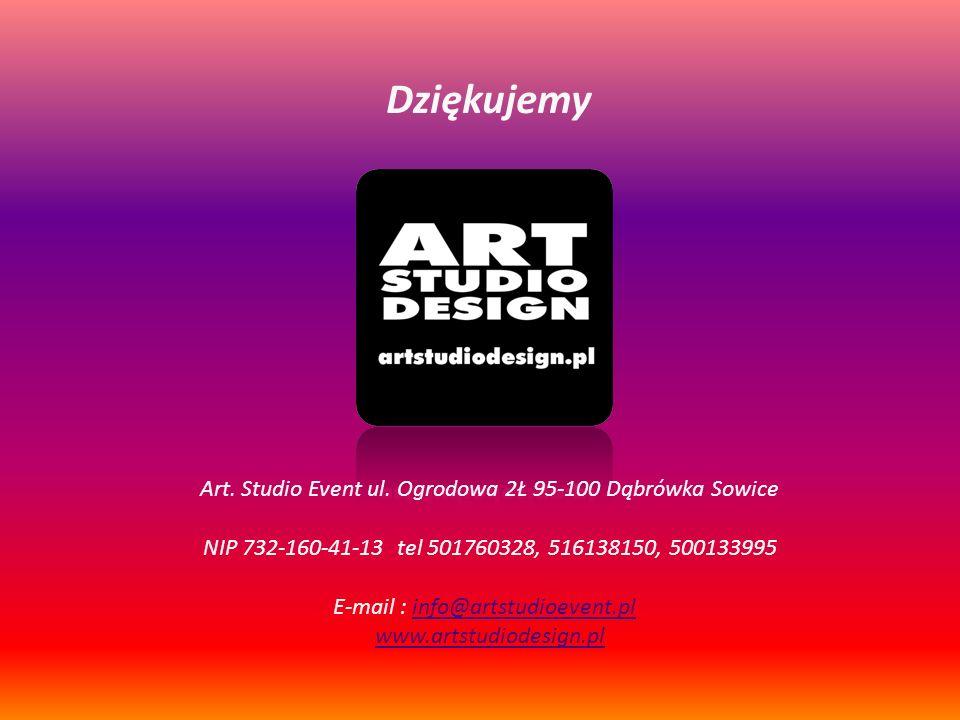 Art. Studio Event ul. Ogrodowa 2Ł 95-100 Dąbrówka Sowice