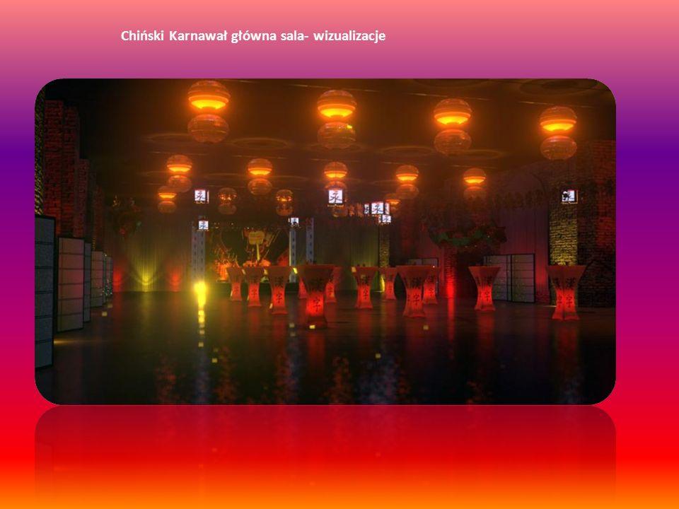 Chiński Karnawał główna sala- wizualizacje