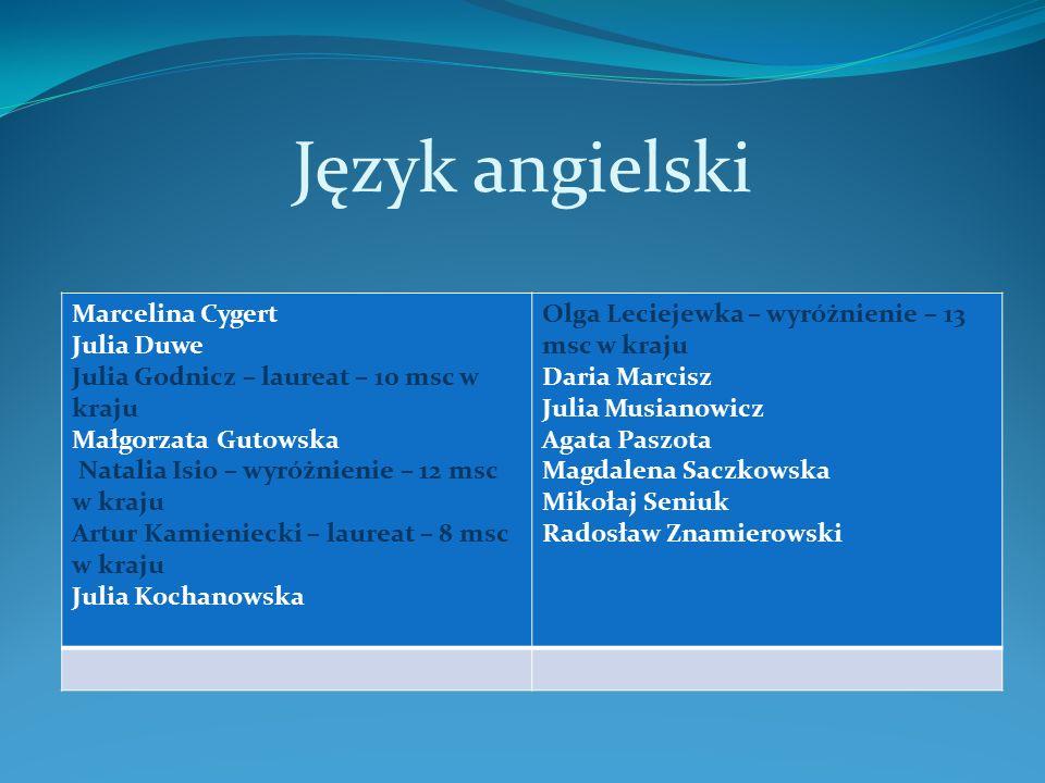 Język angielski Marcelina Cygert Julia Duwe