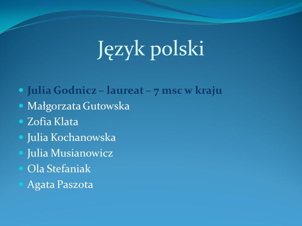 Język polski Julia Godnicz – laureat – 7 msc w kraju