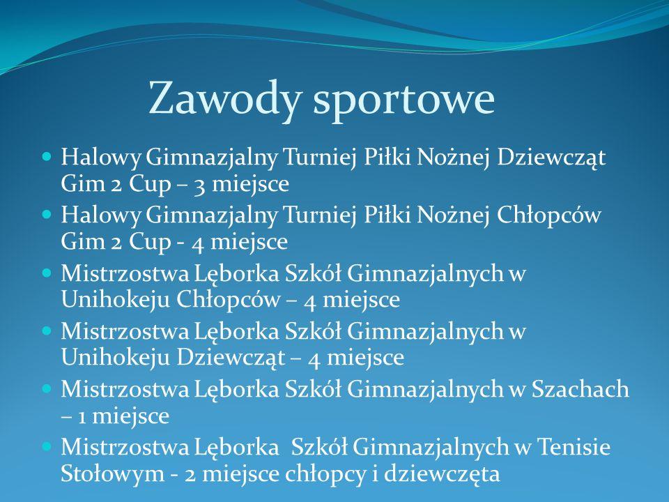 Zawody sportowe Halowy Gimnazjalny Turniej Piłki Nożnej Dziewcząt Gim 2 Cup – 3 miejsce.