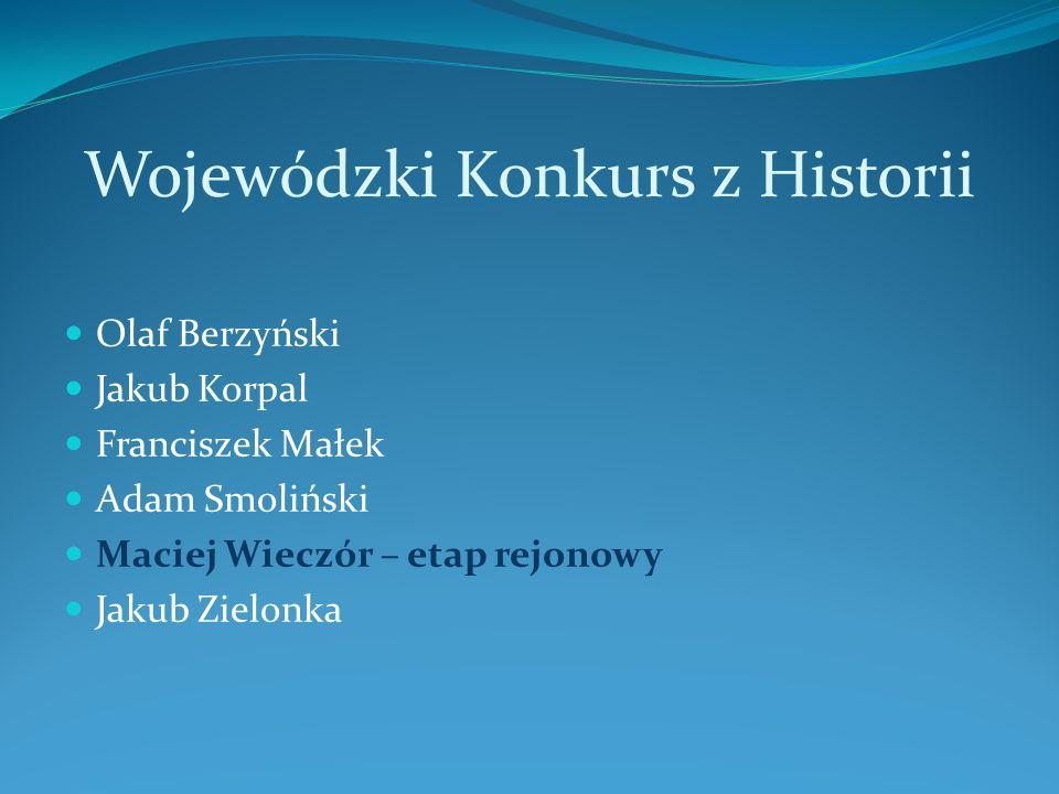 Wojewódzki Konkurs z Historii