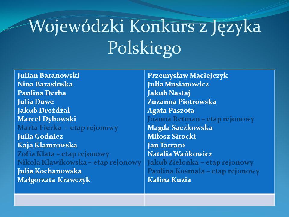 Wojewódzki Konkurs z Języka Polskiego
