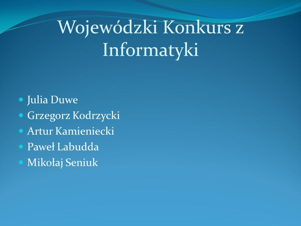 Wojewódzki Konkurs z Informatyki