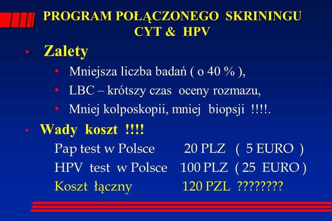 PROGRAM POŁĄCZONEGO SKRININGU CYT & HPV