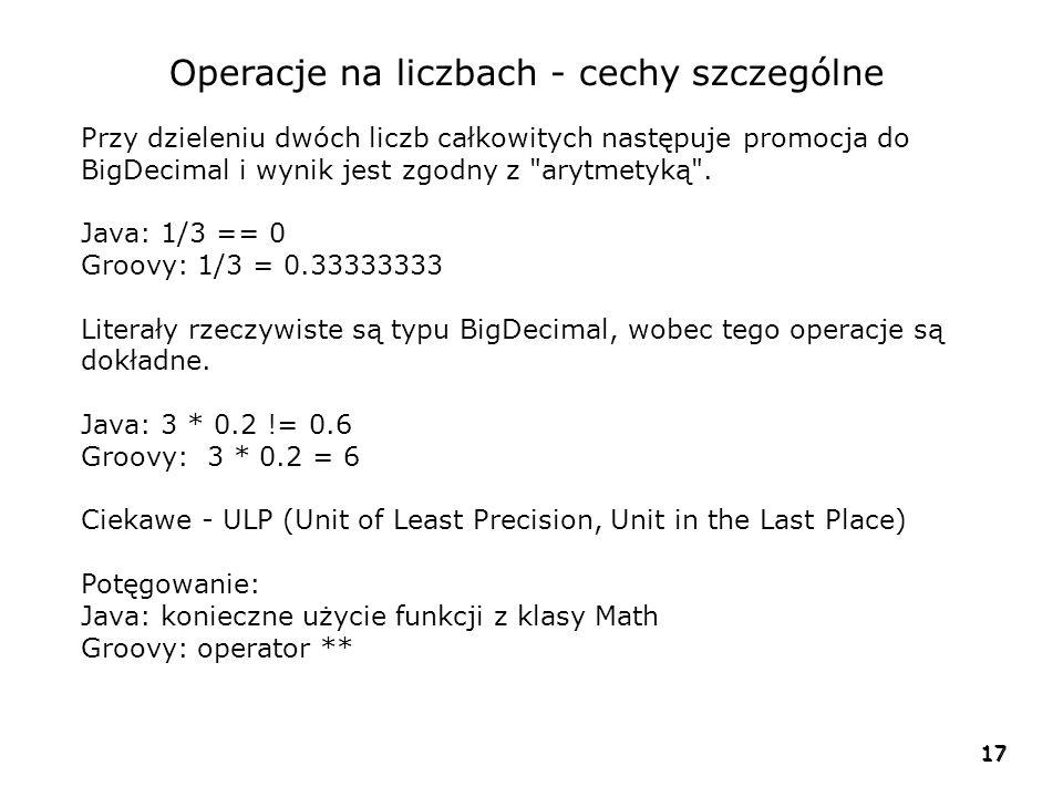 Operacje na liczbach - cechy szczególne