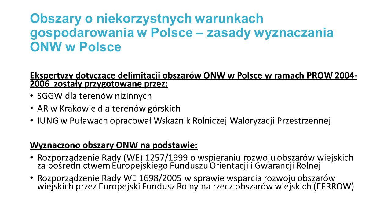 Obszary o niekorzystnych warunkach gospodarowania w Polsce – zasady wyznaczania ONW w Polsce