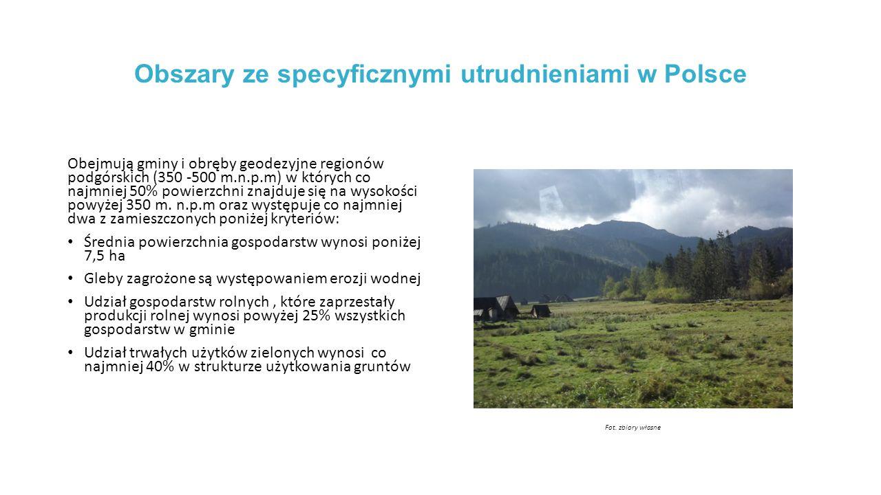 Obszary ze specyficznymi utrudnieniami w Polsce