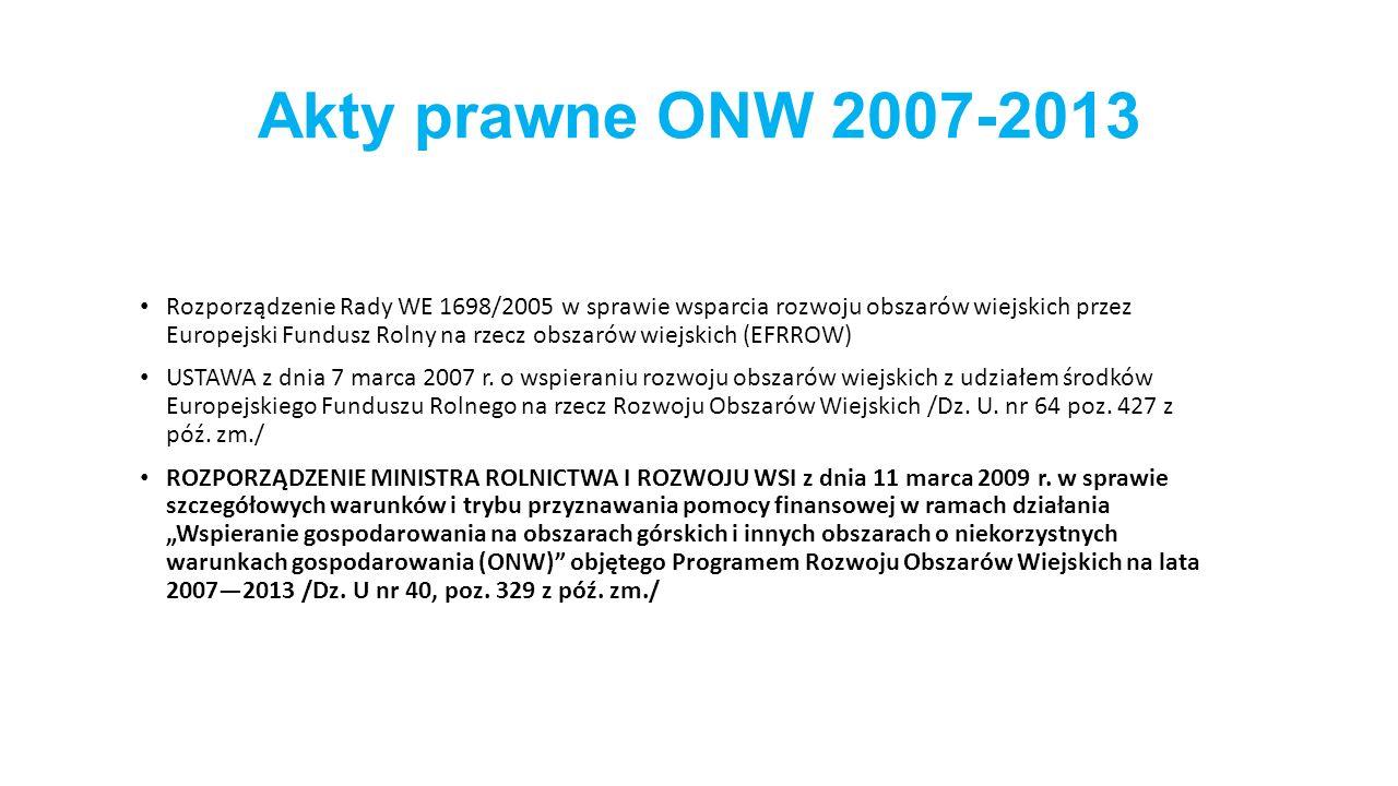 Akty prawne ONW 2007-2013