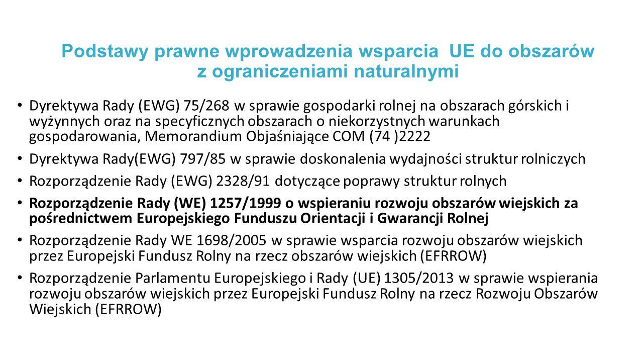 Podstawy prawne wprowadzenia wsparcia UE do obszarów z ograniczeniami naturalnymi