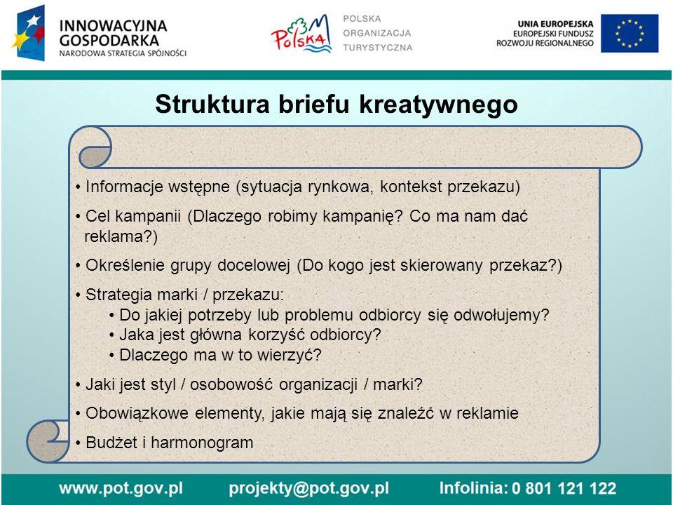 Struktura briefu kreatywnego