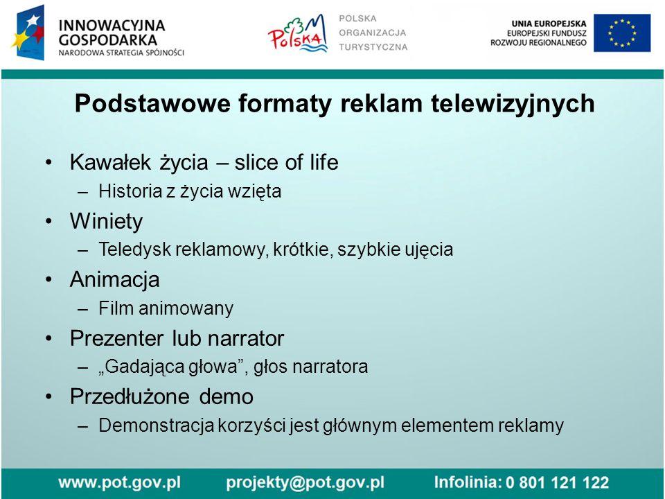 Podstawowe formaty reklam telewizyjnych