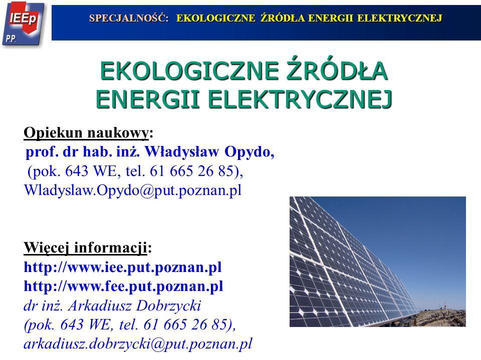 EKOLOGICZNE ŹRÓDŁA ENERGII ELEKTRYCZNEJ