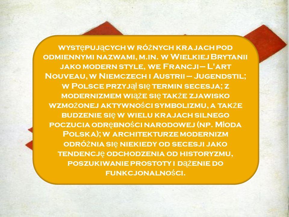 występujących w różnych krajach pod odmiennymi nazwami, m. in