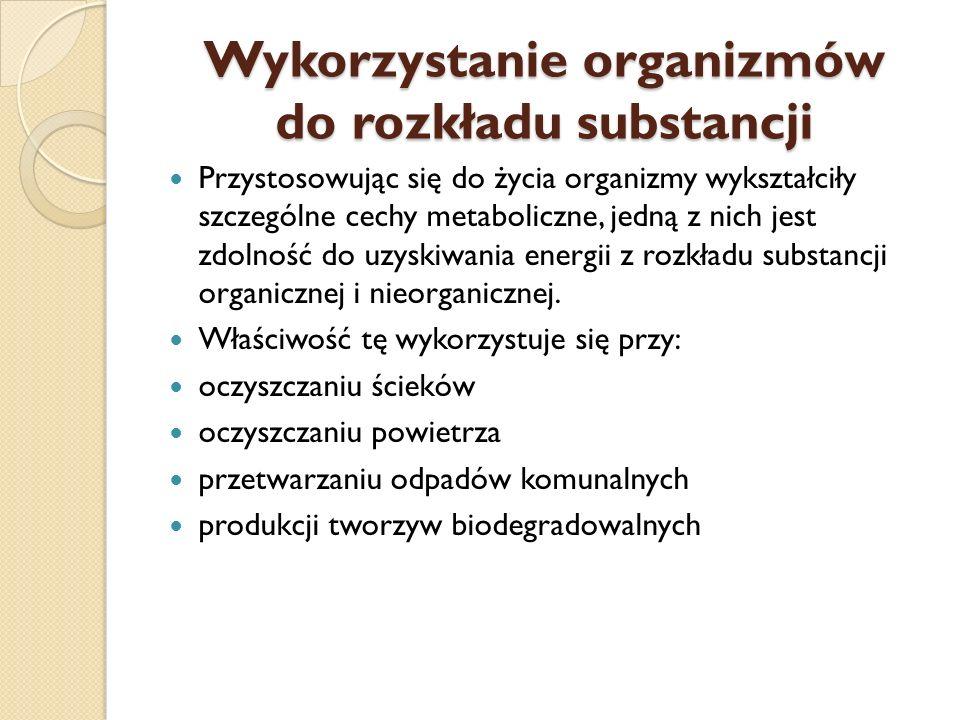 Wykorzystanie organizmów do rozkładu substancji