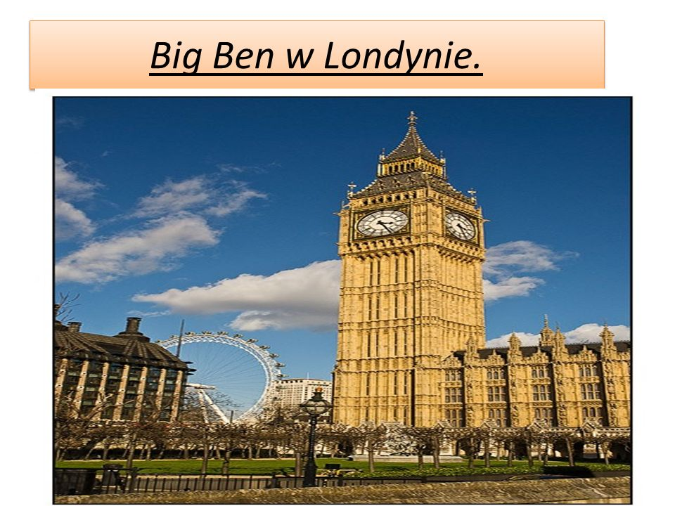 Big Ben w Londynie.