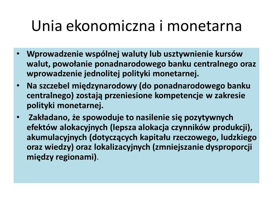 Unia ekonomiczna i monetarna