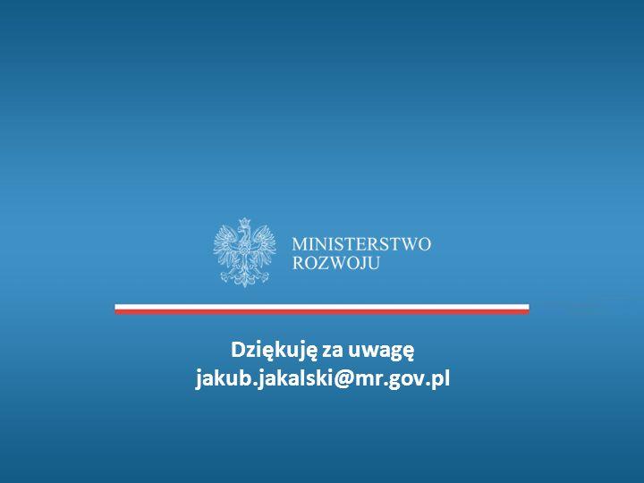 Dziękuję za uwagę jakub.jakalski@mr.gov.pl