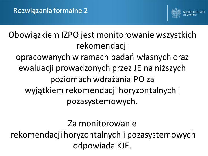 Obowiązkiem IZPO jest monitorowanie wszystkich rekomendacji