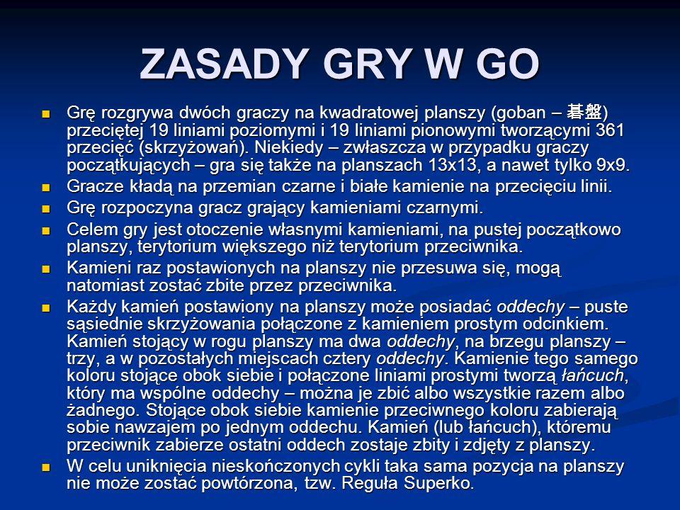 ZASADY GRY W GO