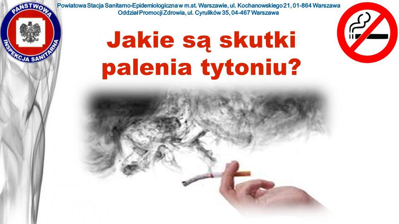 Jakie są skutki palenia tytoniu