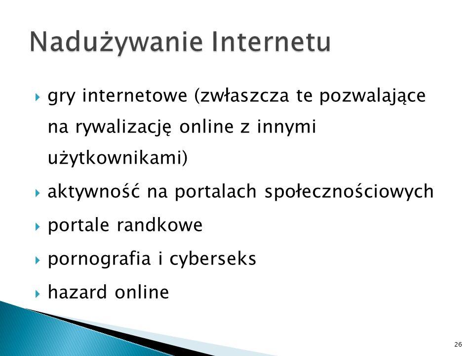 Nadużywanie Internetu
