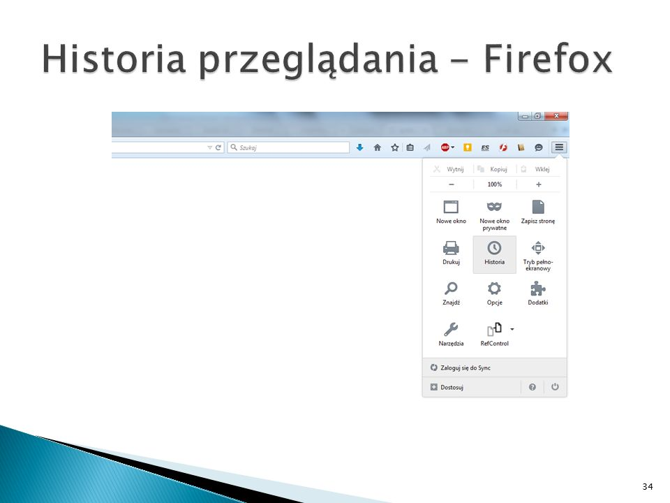 Historia przeglądania - Firefox