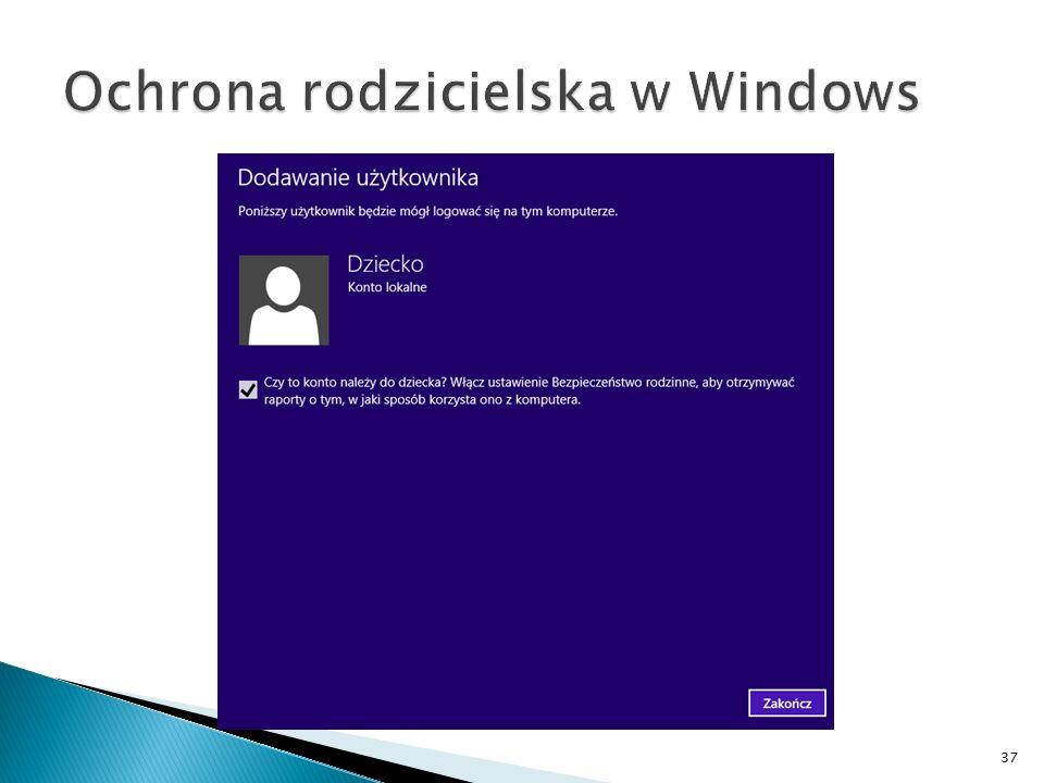 Ochrona rodzicielska w Windows