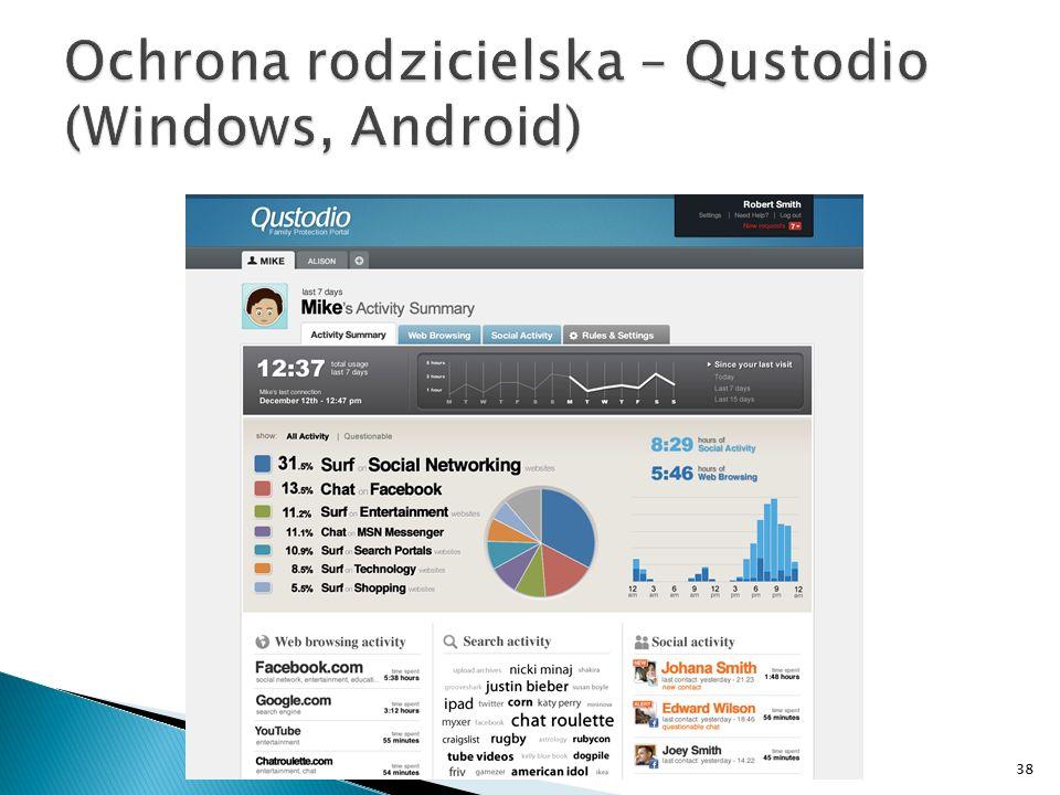 Ochrona rodzicielska – Qustodio (Windows, Android)