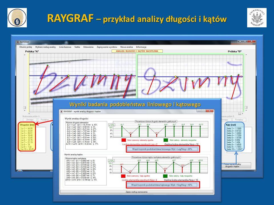 RAYGRAF – przykład analizy długości i kątów