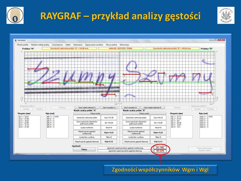 RAYGRAF – przykład analizy gęstości
