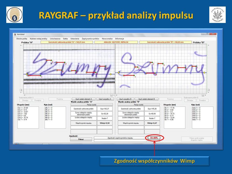 RAYGRAF – przykład analizy impulsu