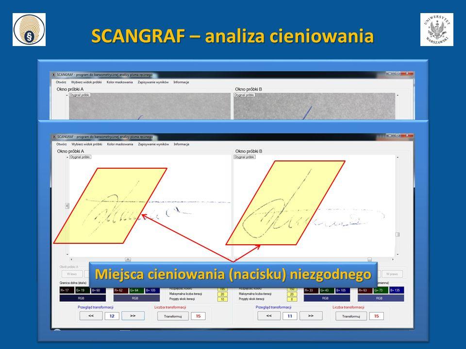 SCANGRAF – analiza cieniowania