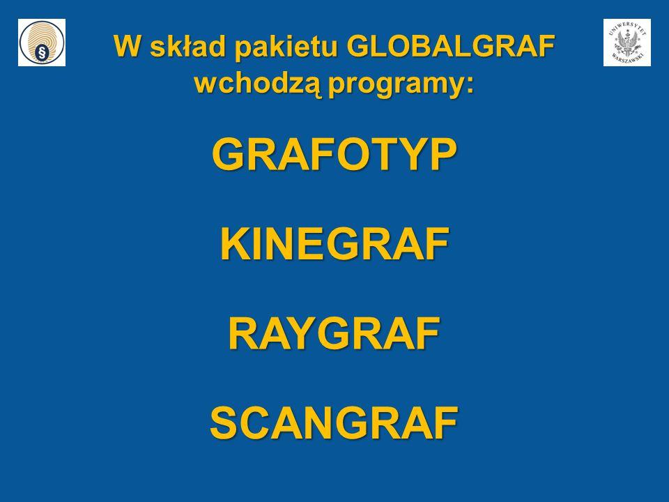 W skład pakietu GLOBALGRAF