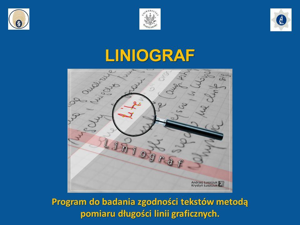 LINIOGRAF Program do badania zgodności tekstów metodą
