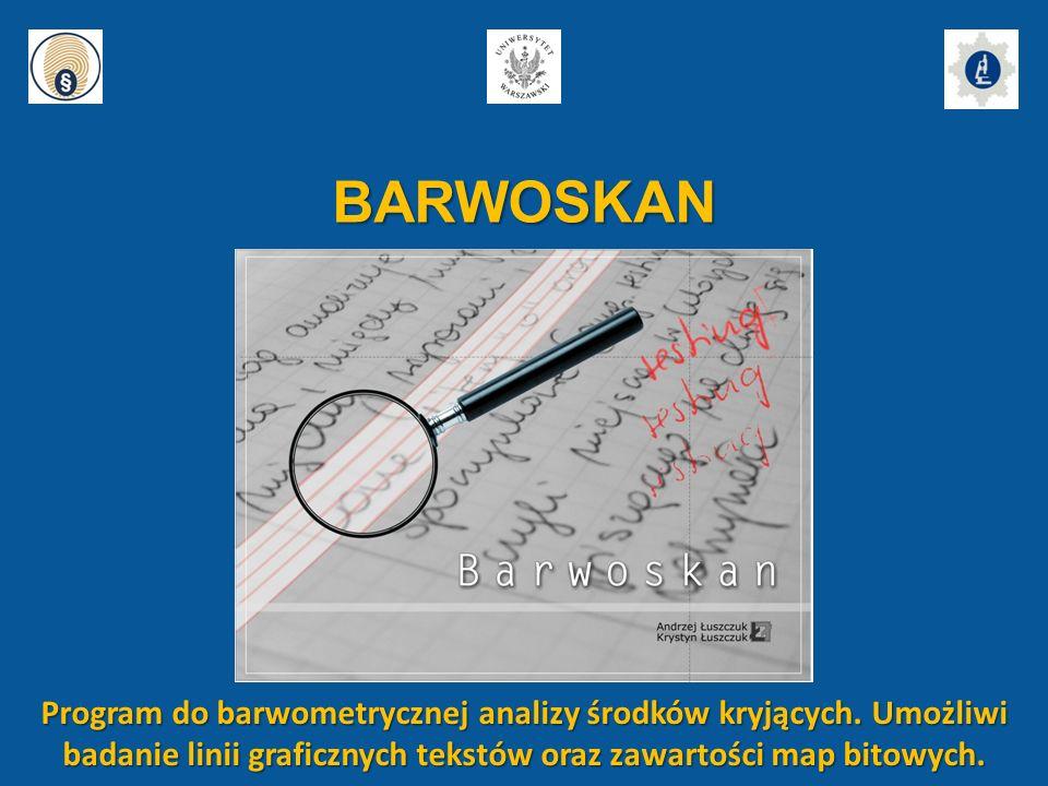 BARWOSKAN Program do barwometrycznej analizy środków kryjących.