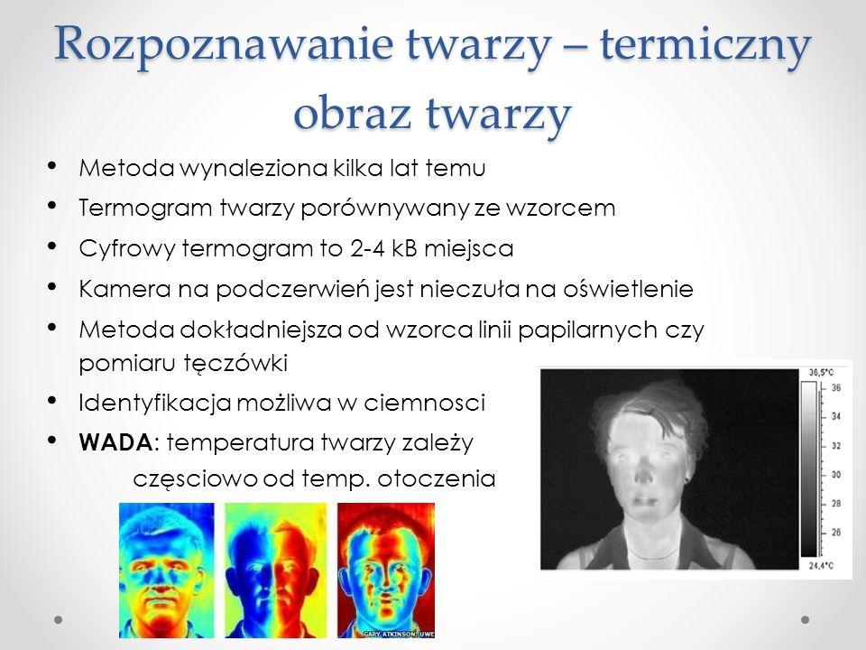 Rozpoznawanie twarzy – termiczny obraz twarzy