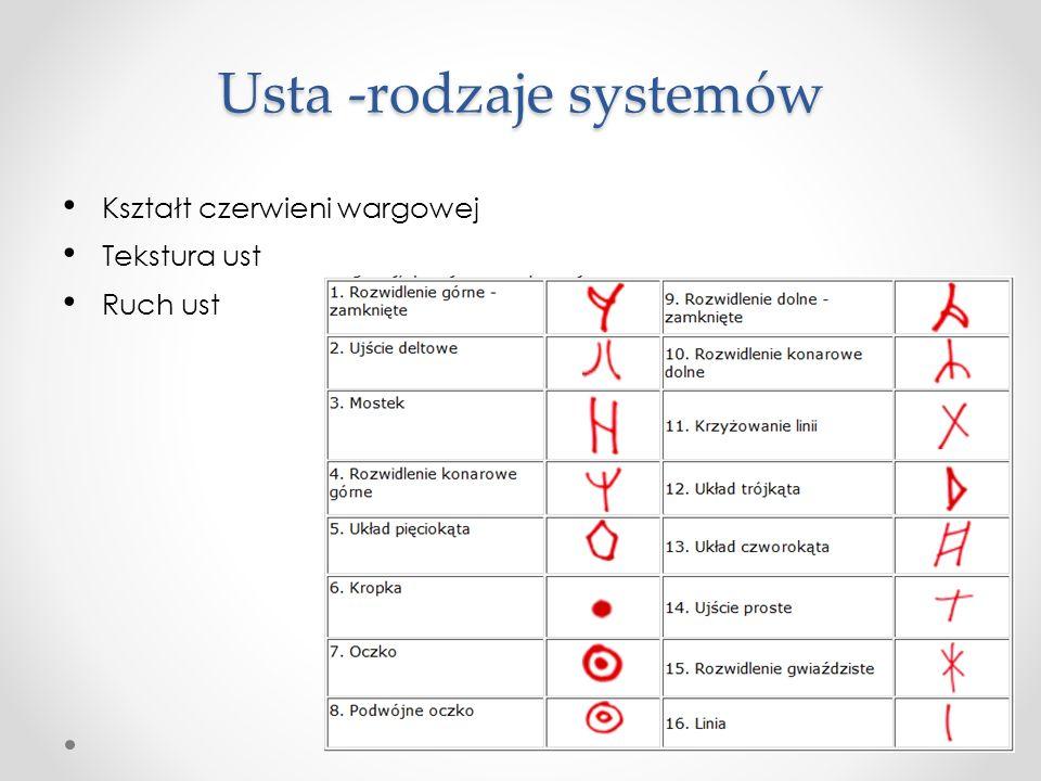 Usta -rodzaje systemów