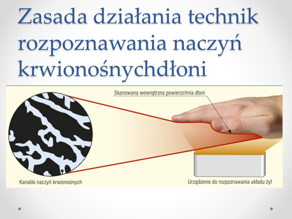 Zasada działania technik rozpoznawania naczyń krwionośnychdłoni