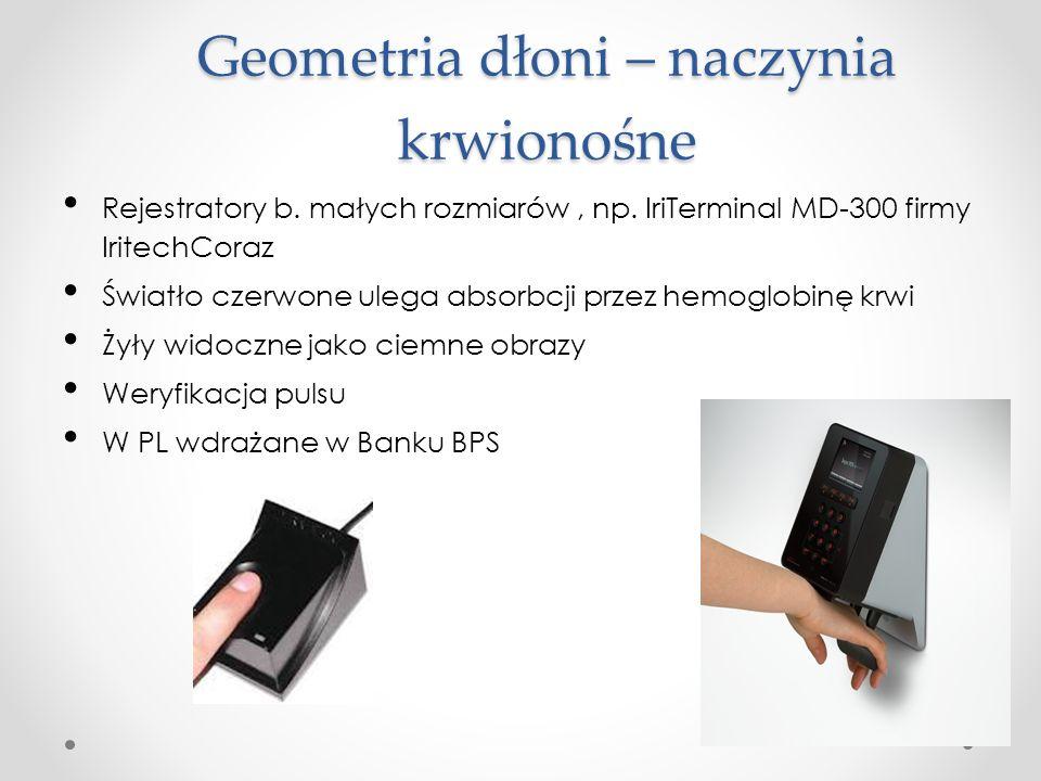 Geometria dłoni – naczynia krwionośne