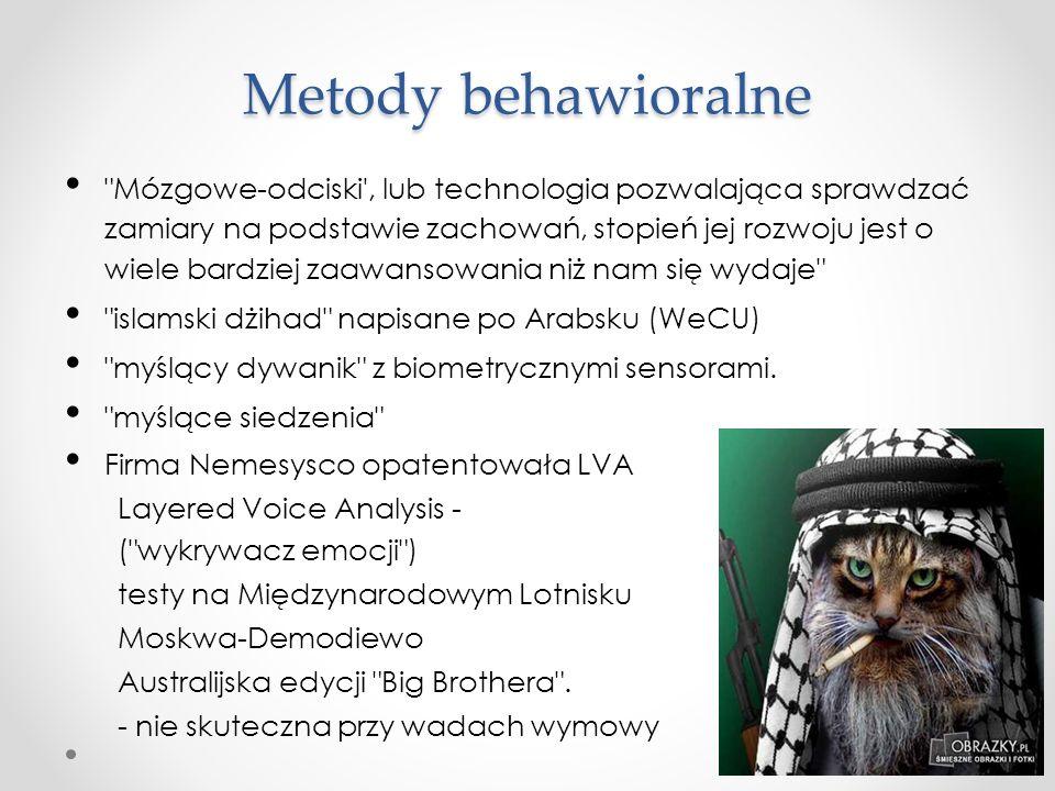 Metody behawioralne