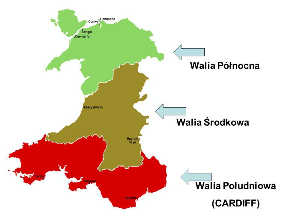 Walia Północna Walia Środkowa Walia Południowa (CARDIFF)