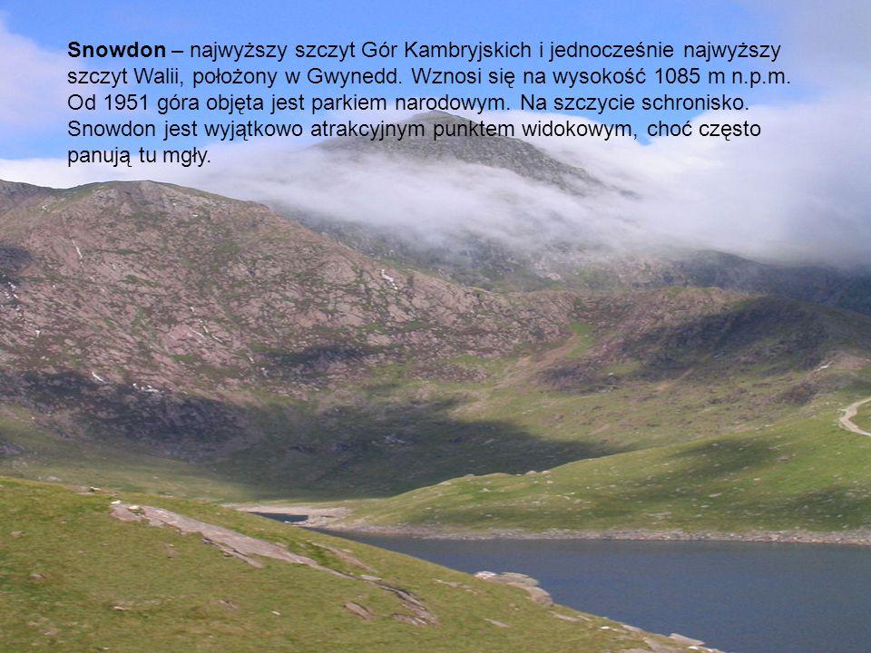 Snowdon – najwyższy szczyt Gór Kambryjskich i jednocześnie najwyższy szczyt Walii, położony w Gwynedd. Wznosi się na wysokość 1085 m n.p.m. Od 1951 góra objęta jest parkiem narodowym. Na szczycie schronisko.