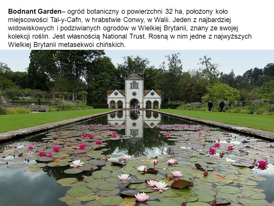 Bodnant Garden– ogród botaniczny o powierzchni 32 ha, położony koło miejscowości Tal-y-Cafn, w hrabstwie Conwy, w Walii.