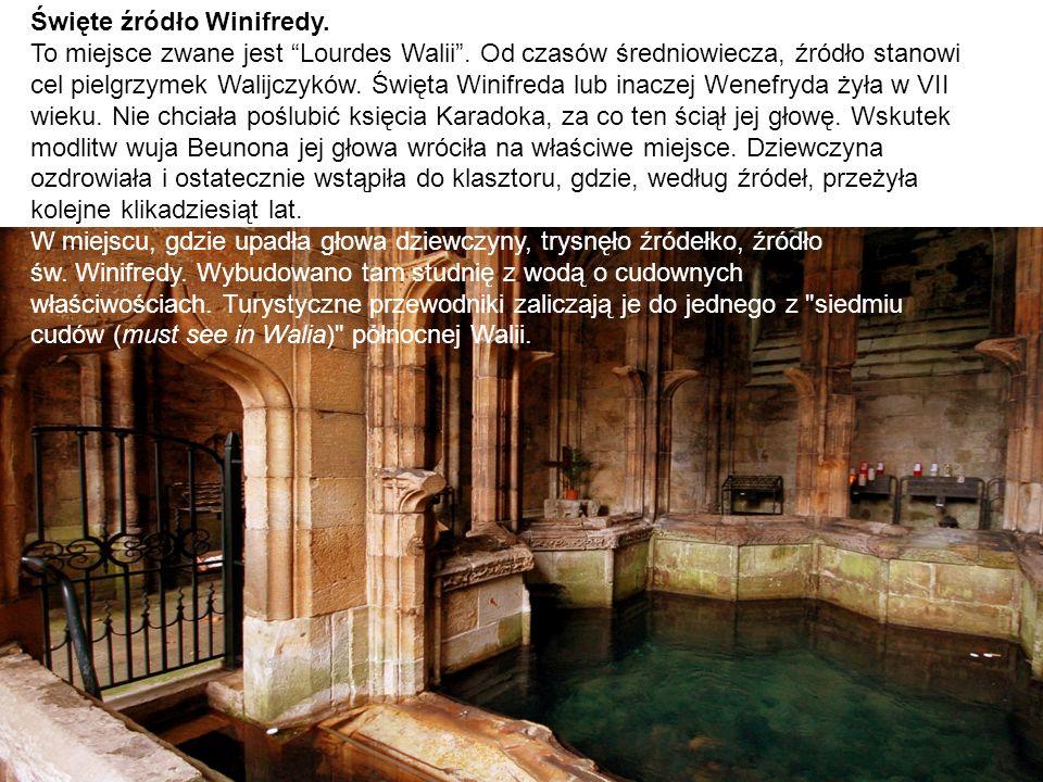 Święte źródło Winifredy. To miejsce zwane jest Lourdes Walii