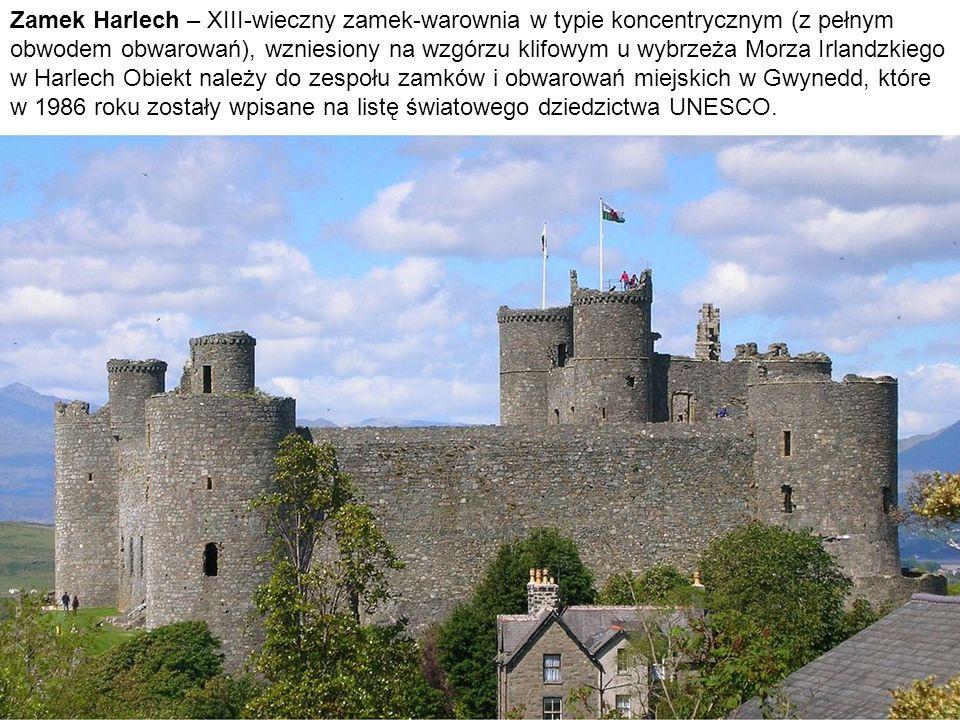Zamek Harlech – XIII-wieczny zamek-warownia w typie koncentrycznym (z pełnym obwodem obwarowań), wzniesiony na wzgórzu klifowym u wybrzeża Morza Irlandzkiego w Harlech Obiekt należy do zespołu zamków i obwarowań miejskich w Gwynedd, które w 1986 roku zostały wpisane na listę światowego dziedzictwa UNESCO.