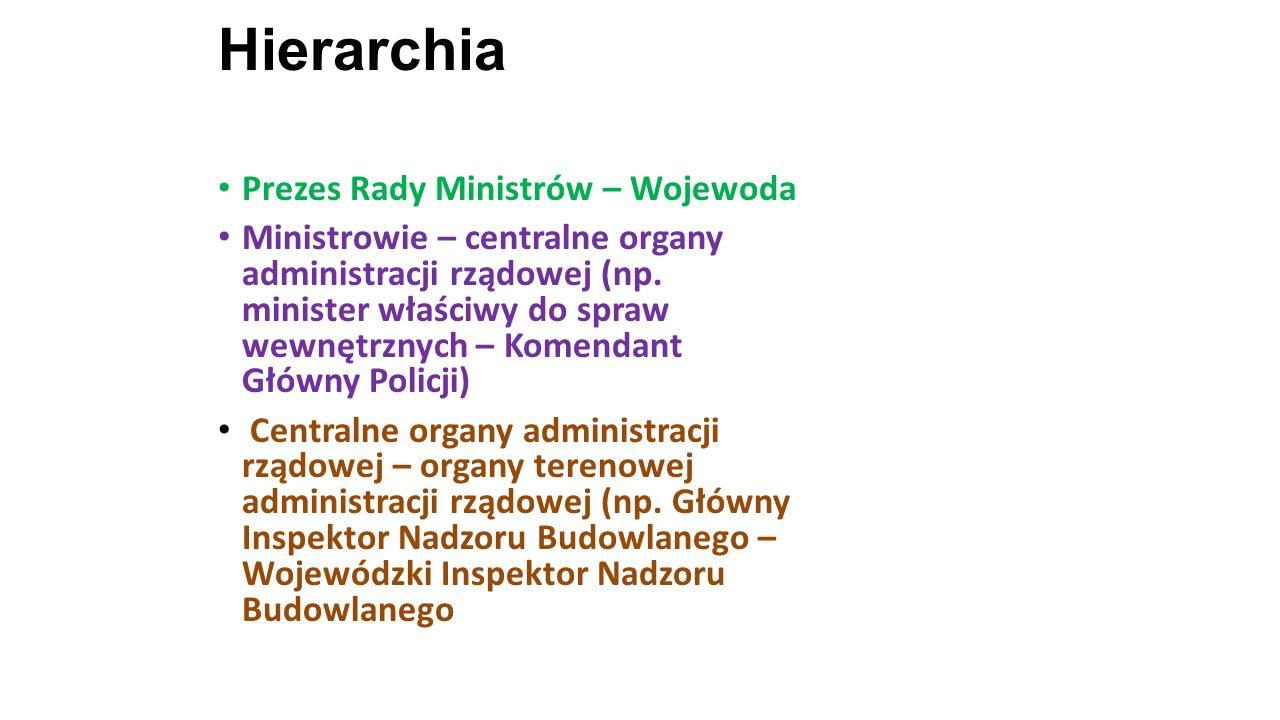 Hierarchia Prezes Rady Ministrów – Wojewoda