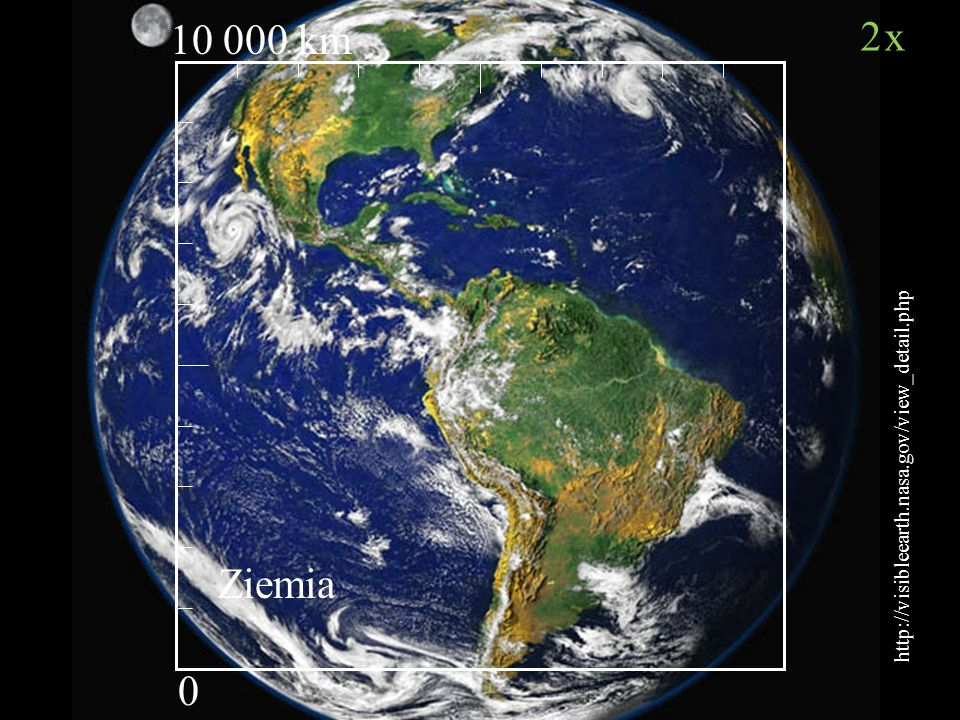 10 000 km http://visibleearth.nasa.gov/view_detail.php 2x Ziemia