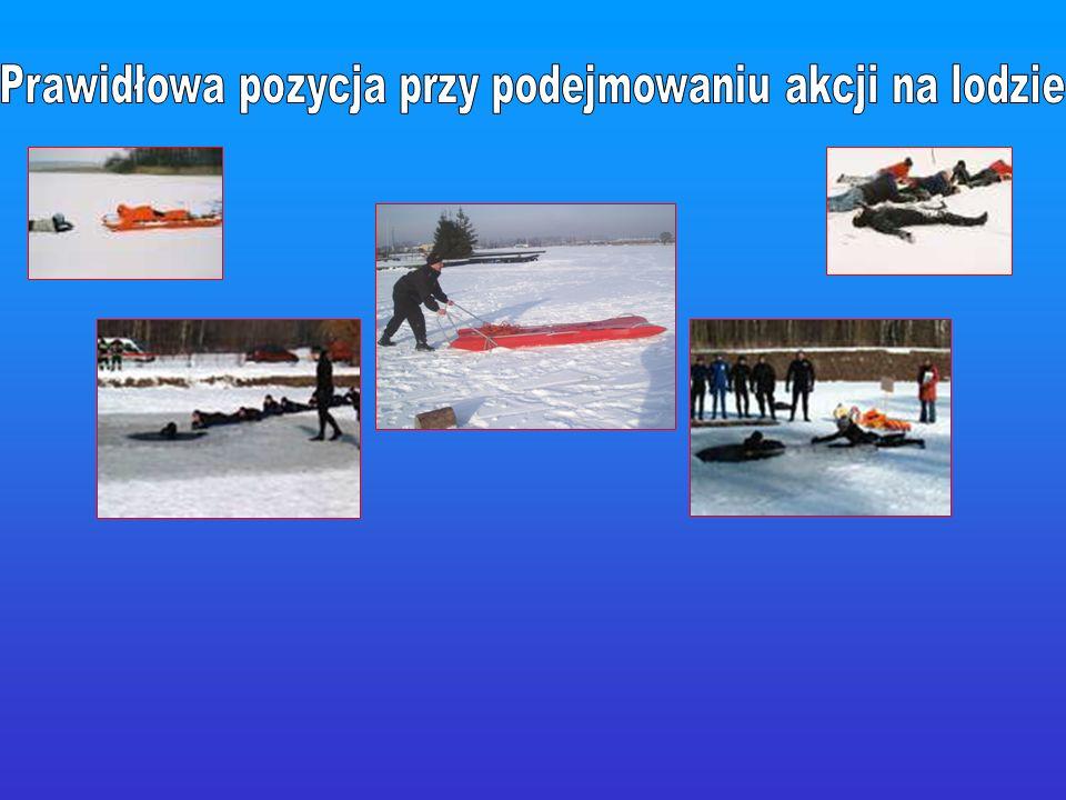 Prawidłowa pozycja przy podejmowaniu akcji na lodzie