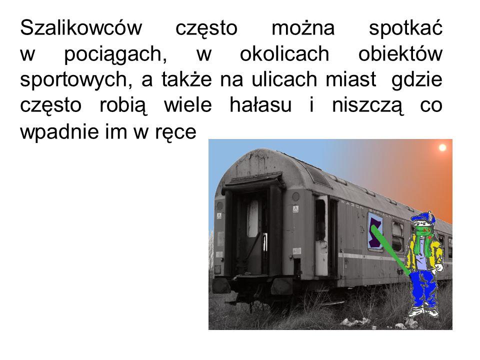 Szalikowców często można spotkać w pociągach, w okolicach obiektów sportowych, a także na ulicach miast gdzie często robią wiele hałasu i niszczą co